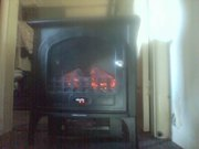 fake log fire heater