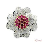 Flower Shape Diamond Ladies Ring Cardinal