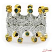 Crown Shape Diamond Ring Hippuris