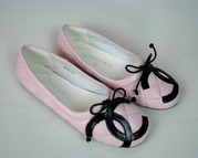 Brand new leather chanel women Flat Ballet shoes