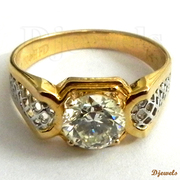 Diamond Gents Ring 14K Gold Hallmarked Jewellery Gents Ring